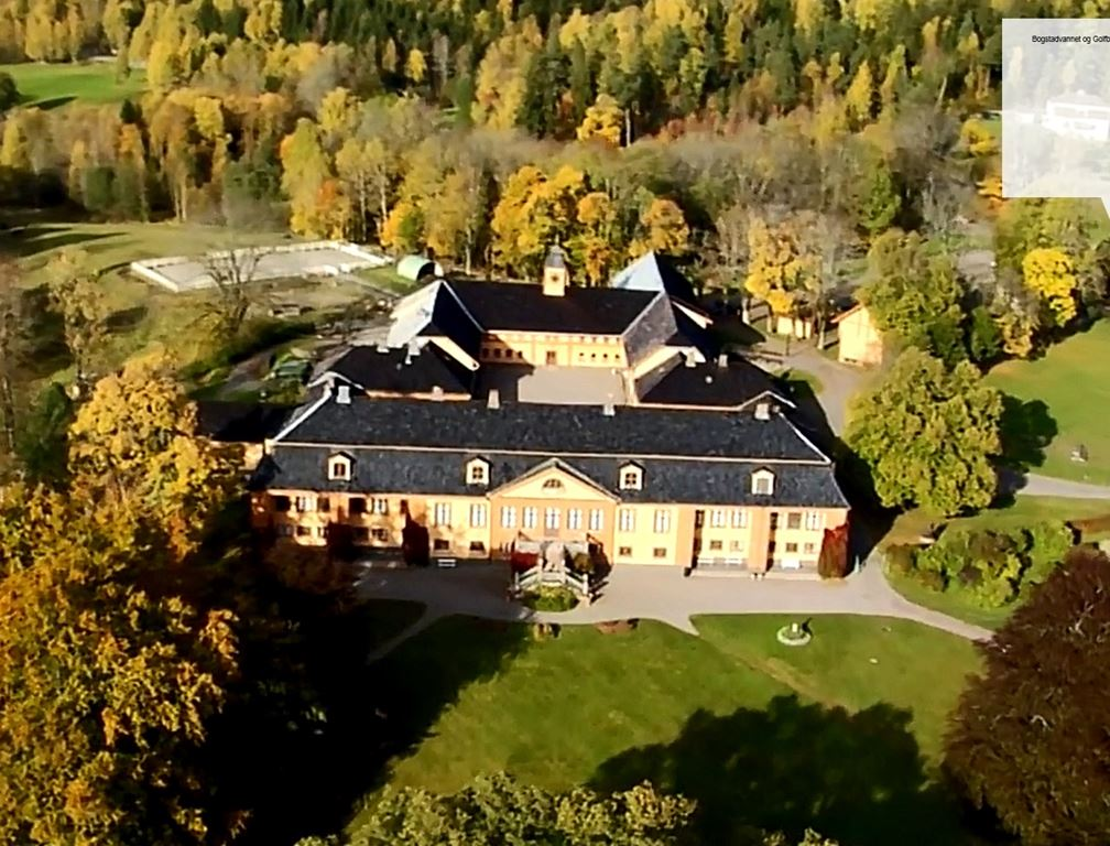 Helicopter flights from Oslo Norway over Bogstad Estate Manor