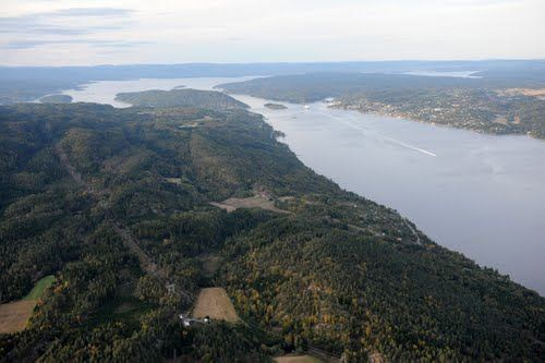 Helicopter hire from Oslo Norway over Hurum Pininsula